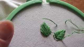 getlinkyoutube.com-Learn Hand Embroidery with Me: Stitches, Part 3 (fishbone stitch and french knot)
