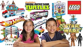 getlinkyoutube.com-MEGA TOY REVIEW & UNBOXING! LEGO, Hot Wheels, TMNT, Star Wars, Paw Patrol, and more!