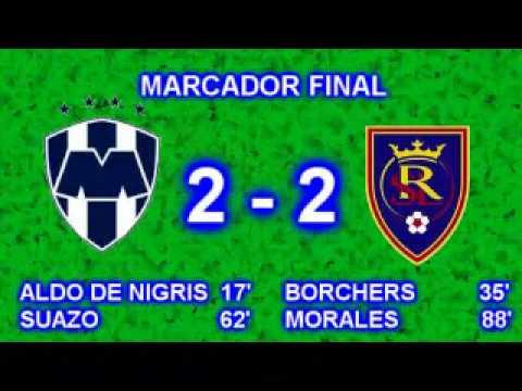 Rayados del Monterrey vs Real Salt Lake Final Concachampions Resultado 2-2