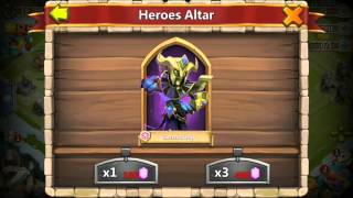 getlinkyoutube.com-Castle Clash Rolling Heros DEATH KNIGHT X2 Plus Game Play From DeathKnight