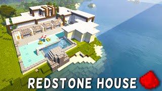 getlinkyoutube.com-Redstone Modern Beach House (Redstone Modern Mansion) - Minecraft Redstone Maps