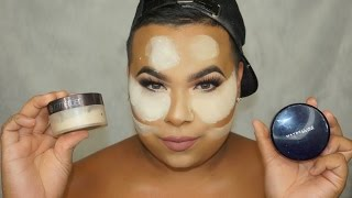 How To: Bake The Face | High End VS. Drugstore Setting Powders | Junior Macias