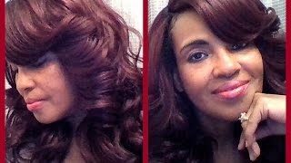 getlinkyoutube.com-Zury Sis Lace Wig IV- Lace H Ari 99J + Sharpie Method  ElevateStyles.com