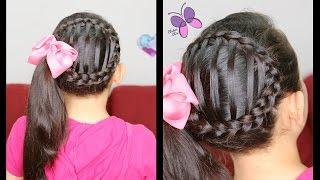getlinkyoutube.com-Cola de Lado Tejida - Accented Side Ponytail | Peinados para Niñas | Peinados con Trenzas