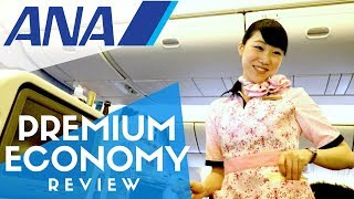 ANA Premium Economy Flight Review + All Nippon Airways Lounge at Narita