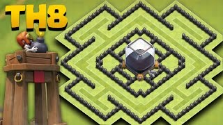 Clash Of Clans | Town Hall 8 Best Dark Farming Base (TH8 De Saving Base) + Replays