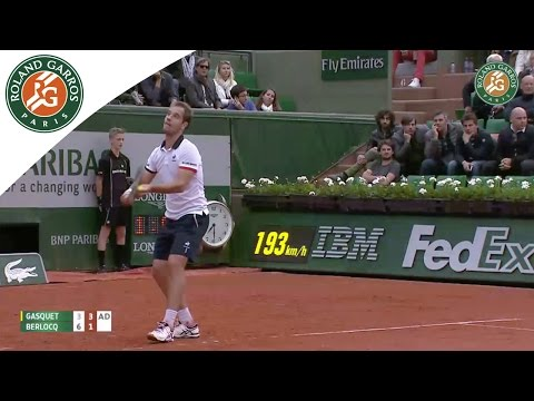 R. Gasquet v. C. Berlocq 2015 French Open Men`s R64 Highlights