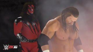 getlinkyoutube.com-WWE 2K16 Masked Kane Chokeslam Entrance Breakouts & Sneak Attacks!