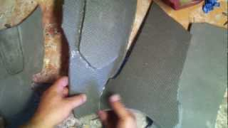 getlinkyoutube.com-Avengers IronMan Mark VII Foam thighs build Part 1