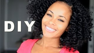 getlinkyoutube.com-Crochet Braids w/ Mambo Natural Hair! NO Perm Rods & NO Hot Water!