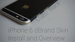 getlinkyoutube.com-Matte Black iPhone 6 dBrand skin Unboxing and Install!