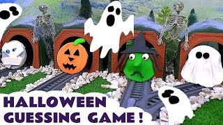 getlinkyoutube.com-Halloween Thomas and Friends Toy Trains Spooky Play Doh Fun Family Friendly Guessing Game by TT4U