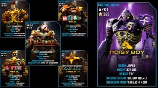 getlinkyoutube.com-Real Steel WRB Free Sparring NoisyBoy VS Gold Robots NEW UPDATE (Живая Сталь)