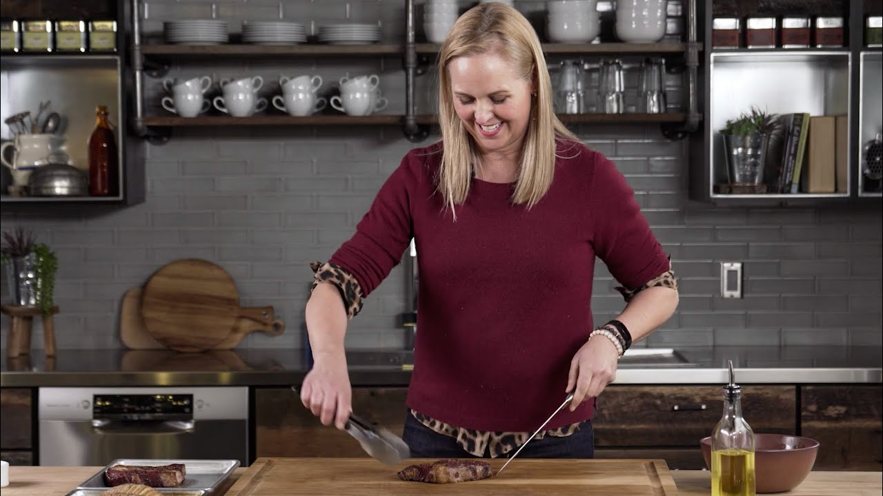 Grilled Rib-Eye & Hassleback Sweet Potatoes with Amanda Haas thumbnail
