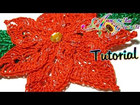 Tutorial stella di Natale all'uncinetto | How to crochet a poinsettia