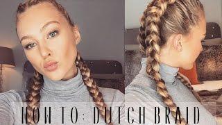 getlinkyoutube.com-How To: Dutch Braid Your Own Hair | Hollie Hobin