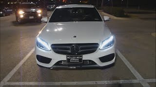 2015 Mercedes Benz C Class (Night review) LED