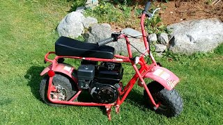 getlinkyoutube.com-Modified Mini Bike - 6.5 hp clone powered Baja Dirt (Doodle) Bug