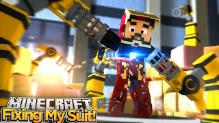 getlinkyoutube.com-Minecraft Adventure - IRONMAN REBUILDS HIS SUIT!!
