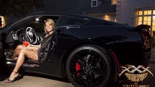 getlinkyoutube.com-SEXY GIRL in 2014 CORVETTE STINGRAY!