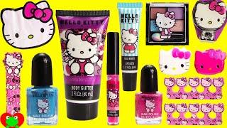 getlinkyoutube.com-Hello Kitty MEGA Cosmetics Set and Surprises