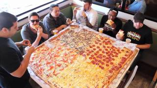 "getlinkyoutube.com-Competitive Eaters Versus Wreckless Eaters in Big Mama's & Papa's Pizzeria's 54"" Pizza Challenge!"
