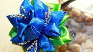 getlinkyoutube.com-Обруч Канзаши Своими Руками / Kanzashi flowers