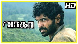 getlinkyoutube.com-Wagah Tamil movie | Action Scenes | Vikram Prabhu | Ranya | Ajay Ratnam | Shaji Chaudhary