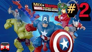 Mix+Smash: Marvel Super Hero Mashers - Iron Man and Spiderman Mix - iOS / Android Gameplay Video