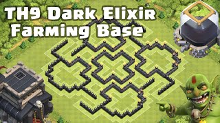 "getlinkyoutube.com-Clash of Clans - TH9 ""THE MUSHROOM"" Dark Elixir-Farming Base"