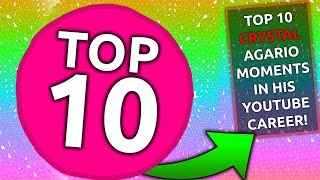 Crystals TOP 10 BEST AGAR.IO MOMENTS EVER!! INSANE AGARIO HIGHLIGHTS COMPILATION!