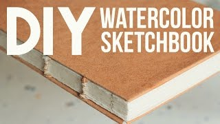getlinkyoutube.com-DIY: Watercolor Sketchbook (No Bookpress)
