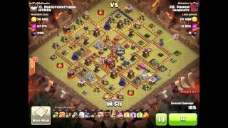 getlinkyoutube.com-Clash Of Clans - 3 Stars Maxed TH10 - Golem Hog Attack