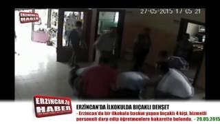 Erzincan'da İlkokula Bıçaklı Baskın Yapıldı