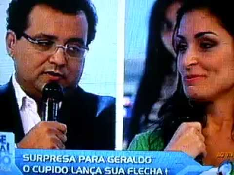 Geraldo Luiz se declarando para Franciele ao vivo para todo Brasil