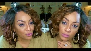 getlinkyoutube.com-Model Model Invisible Curved Part Jazzy Lace Front  $19.99 sistawigs.com