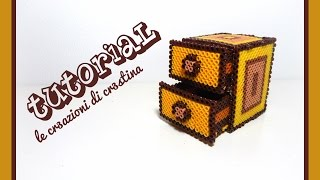 getlinkyoutube.com-Tutorial Mobiletto/Cassettiera 3D con Hama Beads MIDI - www.perlinedastirare.it