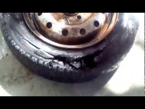 Ока (ВАЗ-1111, СеАЗ-1111, КамАЗ-1111) такова вы ещё не видели а колесо живое хоть и рука пролазит