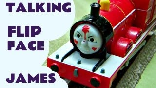 getlinkyoutube.com-Talking James (Hero Of The Rails) Thomas The Tank Trackmaster Kids toy Train Set Thomas The Tank