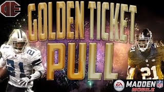 getlinkyoutube.com-FIRST GOLDEN TICKET PLAYER PULL!!! Madden Mobile Best Pro Pack Ever! 6 million coin pull!