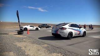 650hp BMW X6 M vs 630hp Ferrari 458 Spider - Shift S3ctor