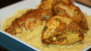 getlinkyoutube.com-Poulet à la Moutarde & Riz Basmati - Grilled Marinated Chicken & Basmati Rice - دجاج بالموطارد