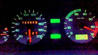 getlinkyoutube.com-Felicia 220km/h, test prevodovky