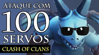 getlinkyoutube.com-CLASH OF CLANS | Ataque com 100 Servos / Minion | Funciona?