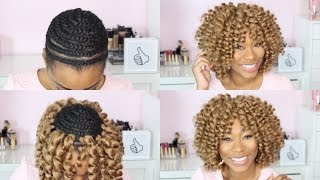 getlinkyoutube.com-Watch Me Crochet Braid My Hair|ChimereNicole