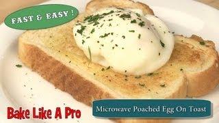 getlinkyoutube.com-Easy Microwave Poached Egg On Toast Recipe