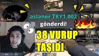 BERK RIP TEPE 1000 LİRA BAĞIŞ GELİNCE 38 VURUYOR! CSGO REKABETÇİ