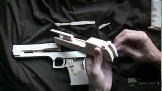 getlinkyoutube.com-Blowback rubber band gun : Assembly-Desert Eagle Type