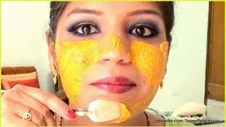 getlinkyoutube.com-Turmeric Face Mask Pack For Acne Treatment & Clear glowing Skin | SuperPrincessjo