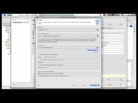 Java Persistence API 2: Java EE 6 &amp; GlassFish 3 using Eclipse (Part 3 of 5)